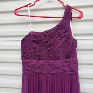 NW Nightway pleated one shoulder gown